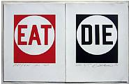 Eat/Die, Robert Indiana, 1990