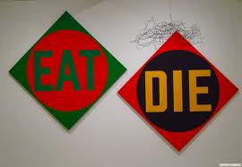 The Green Diamond Eat The Red Diamond Die, Robert Indiana, 1962