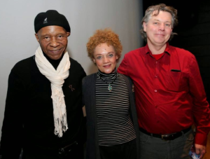 Robert King and Ron Harpelle w/ Kathleen Cleaver at the Montreal Black Film Festival. View more photos here