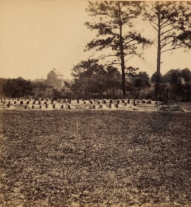 1865 view of the Union soldiers graves at Washington Racecourse. Library of Congress